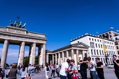 La porta di Brandeburgo in Berlin Germany Immagine Stock Libera da Diritti