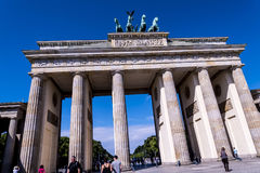 La porta di Brandeburgo in Berlin Germany Immagini Stock
