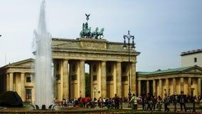 La porta di Brandeburgo a Berlino, Germania Immagine Stock Libera da Diritti