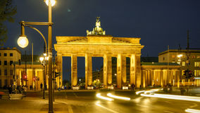 La porta di Brandeburgo a Berlino, Germania Fotografie Stock