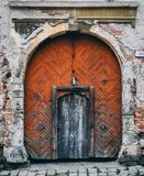 La porta di mistero fotografie stock libere da diritti