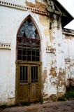 La porta di vecchia distilleria Fotografie Stock