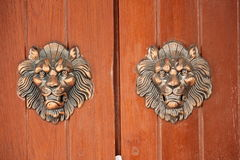 La porta fatta da di legno Fotografie Stock Libere da Diritti