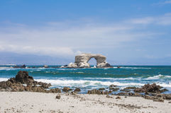 La Portada,安托法加斯塔,智利曲拱  免版税库存照片
