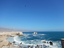 La Portada. Antofagasta - Chile. Between the forces of the ocean and the volcanoes in Northern Chile,  is an amazing demonstration of the talent of nature Royalty Free Stock Photo