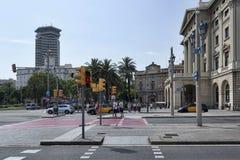 La portale Pau del de della plaza a Barcellona Fotografia Stock Libera da Diritti