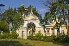La porte à l'église Photo libre de droits