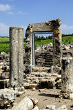 La porte à la synagogue antique d'arbel Photographie stock libre de droits