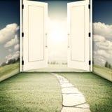 La porte à un autre monde Photo stock