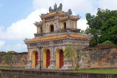 La porte-bastion antique du Cité interdite impérial Hue, Vietnam images libres de droits