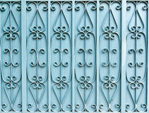La porte bleue de fer Photo stock
