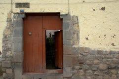 La porte brune Photographie stock libre de droits