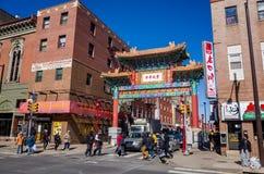 La porte d'amitié de Chinatown Photographie stock libre de droits