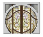 La porte dans le vitrail Images stock
