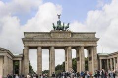 La Porte de Brandebourg est le ` s de Berlin la plupart de point de repère célèbre Un symbole de Berlin et de division allemande  Images libres de droits
