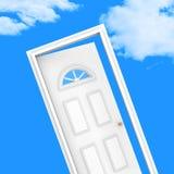 La porte de Chambre montre le ménage de propriété et a désiré Images libres de droits