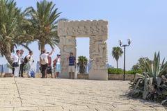 La porte de la foi en parc d'Abrasha dans Jaffa, Israël photographie stock libre de droits