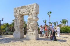 La porte de la foi en parc d'Abrasha dans Jaffa, Israël image libre de droits