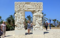 La porte de la foi en parc d'Abrasha dans Jaffa, Israël image stock