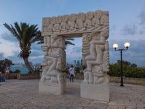 La porte de la foi en parc d'Abrasha, vieux Jaffa, Israël images libres de droits