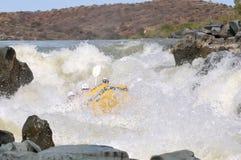 La porte de l'enfer de négociation en rivière de Gariep (rivière orange), Sout Image libre de droits