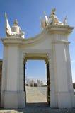 La porte avec les trophées de gain, château de Bratislava Image libre de droits