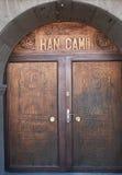 La porte de la mosquée de Han, Kayseri. Image libre de droits