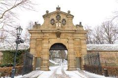 La porte de Leopolds à Vysehrad à Prague, République Tchèque photo libre de droits