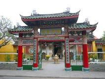 La porte de Trieu Chau Assembly Hall en Hoi An, Vietnam image libre de droits