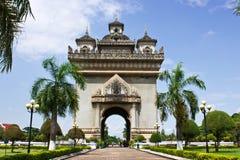 La porte de victoire à Vientiane, Laos Image libre de droits