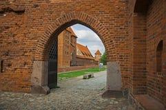 La porte du château de Malbork Images stock