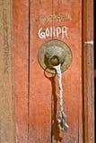 La porte du monastère de Chanraszik, Leh Photographie stock