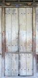 La porte en bois verrouillée Photographie stock