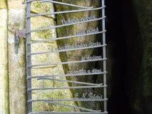 La porte en métal photographie stock
