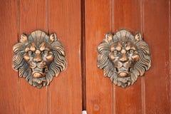 La porte faite à partir d'en bois Photos libres de droits