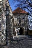 La porte de Sigismund du château de Bratislava Photo libre de droits
