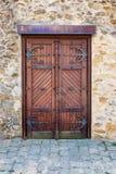 La porte historique dans Telc Images libres de droits