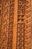 La porte ornementée au temple d'une divinité image stock