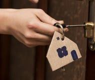 La porte principale Real Estate louent le courtier à la maison Buy de Chambre Image stock