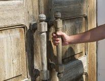 La porte s'ouvre Photographie stock libre de droits