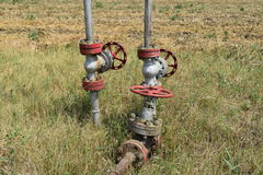 La porte sur un puits de pétrole Photos libres de droits
