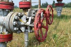 La porte sur un puits de pétrole Photos stock