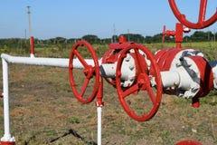 La porte sur un puits de pétrole Photo libre de droits