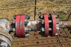 La porte sur un puits de pétrole Image stock