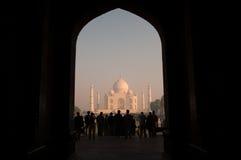 La porte vers le Taj Mahal images stock