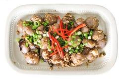 La portion du plat chinois populaire délicieux de Hakka appelé abaque voient Photos libres de droits