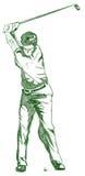 La posa dell'oscillazione di golf illustrazione vettoriale