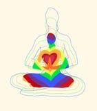 La posa di yoga dei loti Immagini Stock