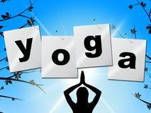 La posa di yoga rappresenta l'equilibrio ed il chiarimento di posizione royalty illustrazione gratis