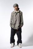 La pose de danseur de hip-hop Image stock